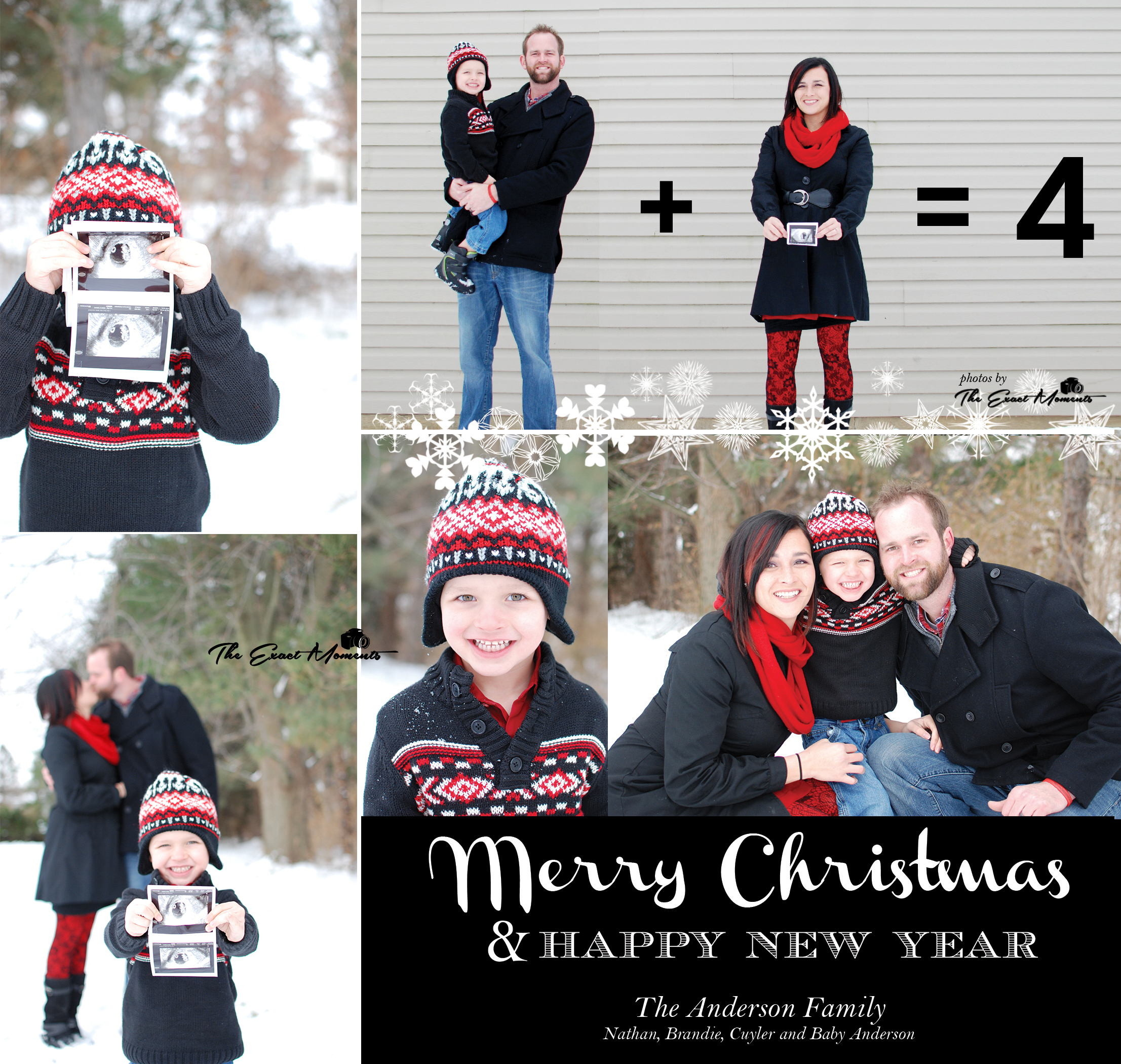 Maternity – Cute Christmas Baby Announcements